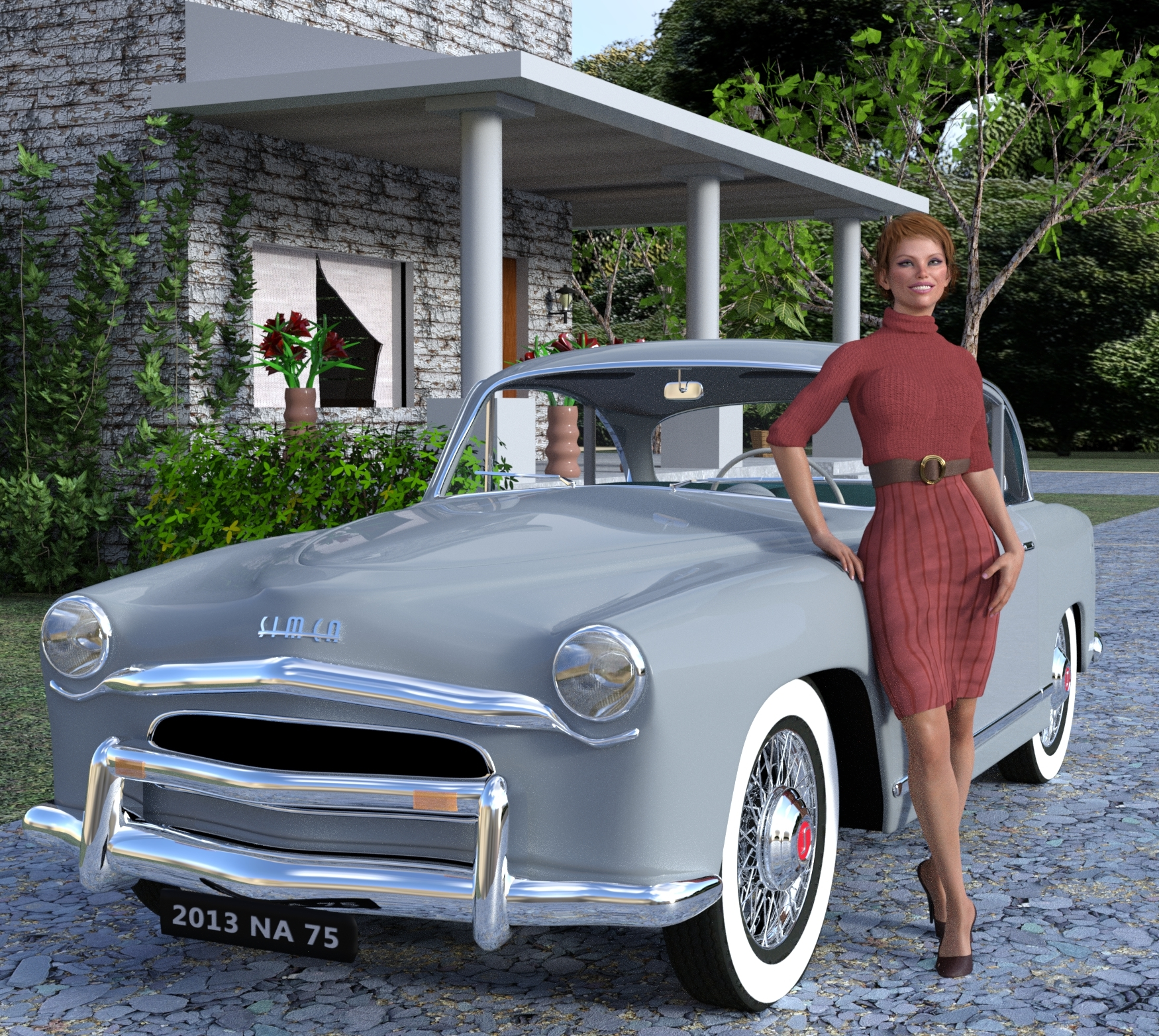 1953 Simca and V8 Inspired by Simca and Bardot