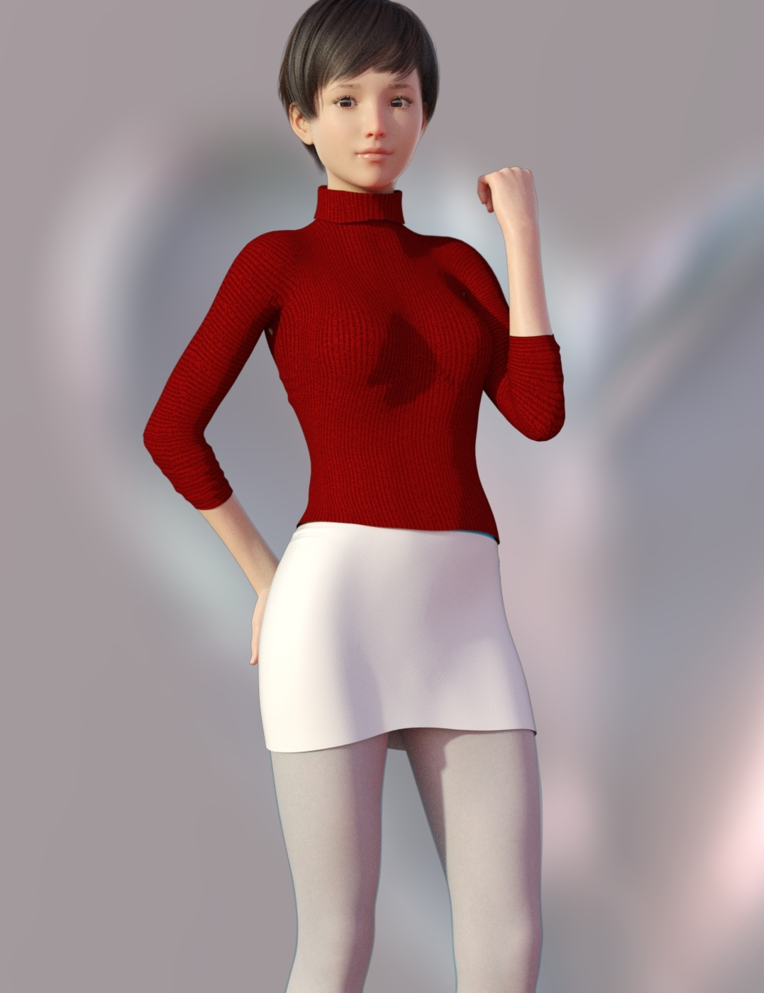 G8F in Hot Sweater for Genesis 8 Females for dForc