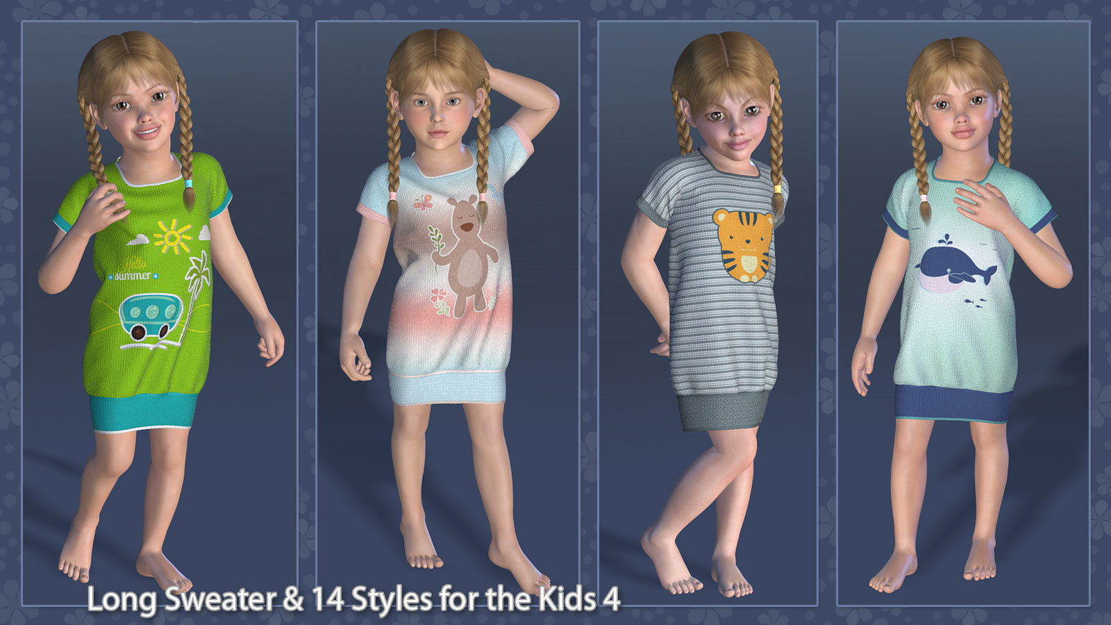 Long Sweater and 14 Styles for the Kids 4