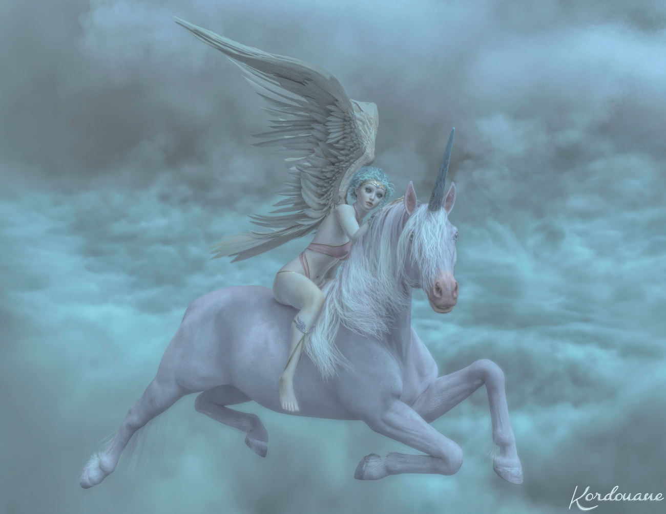 The angel and the unicorn