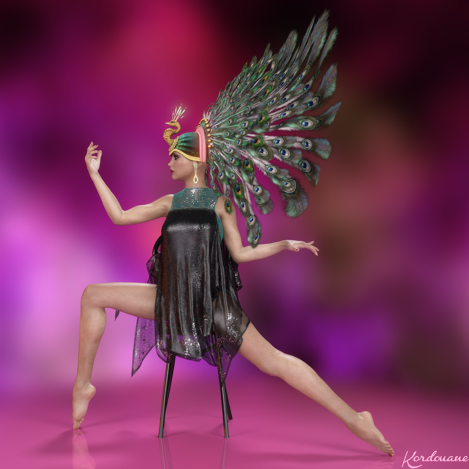Feathers and strass
