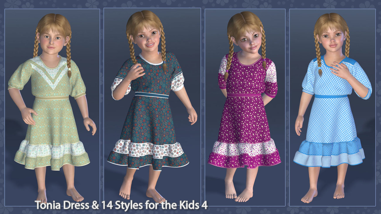 Tonia Dress and 14 Styles for the Kids 4