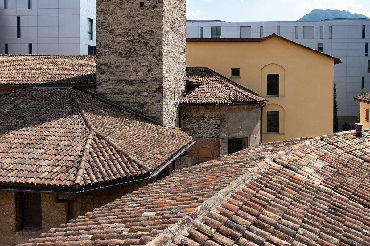 The roofs , Lugano (Switzerland)