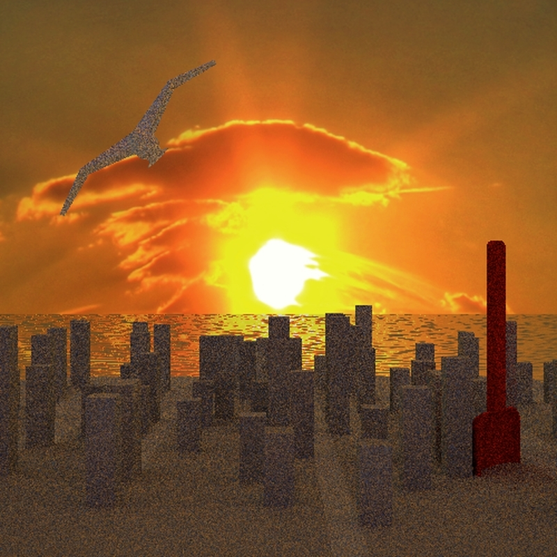Sunset in the sandcastle city