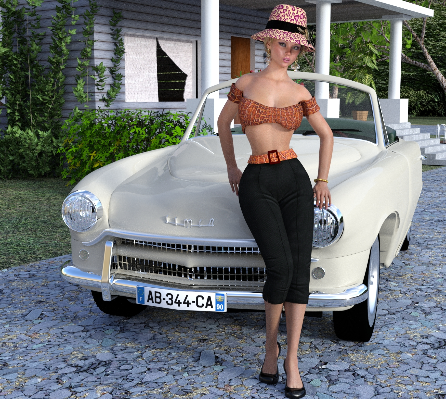 Simca Bardot Inspired; 1954 Simca by Lucien Lilipp