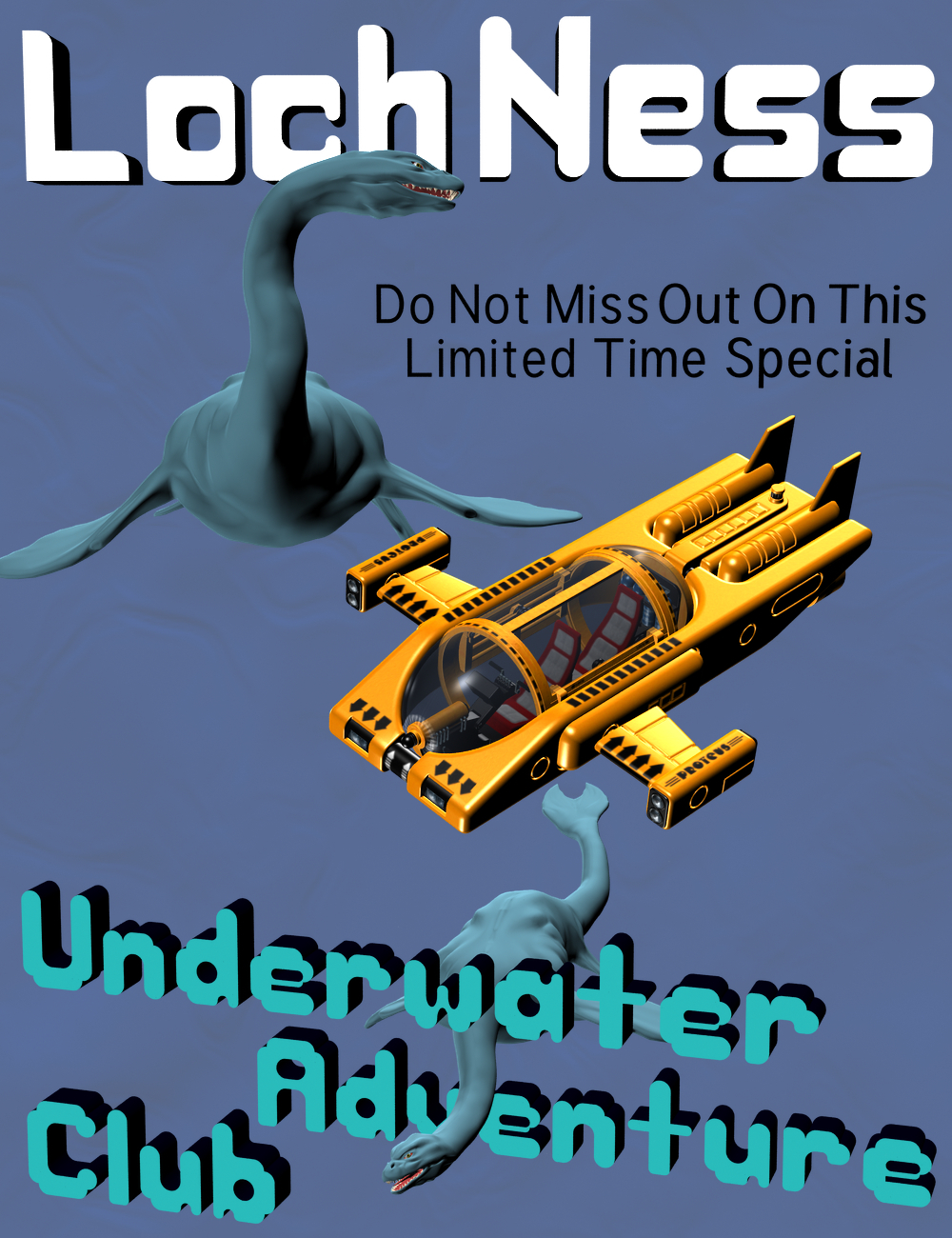 LochNess Magazine (Sample 3D Font Cover)