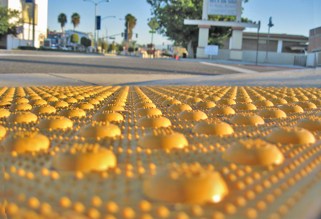 Pavement grating/treads at eye level