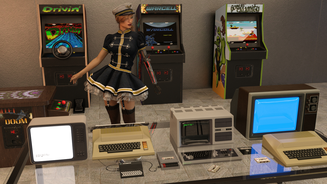 Retro gaming with a broken doll