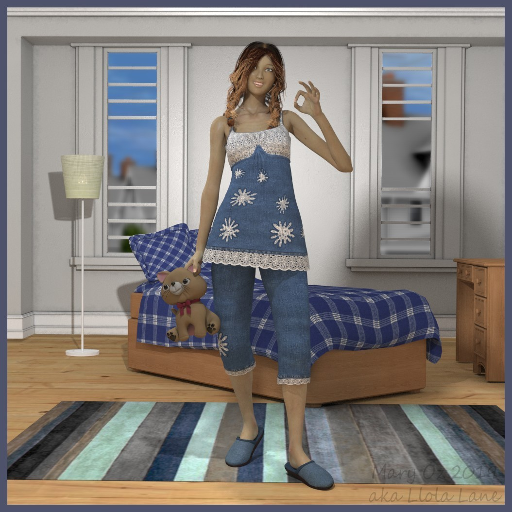 Victoria 4 with Poser by LlolaLane