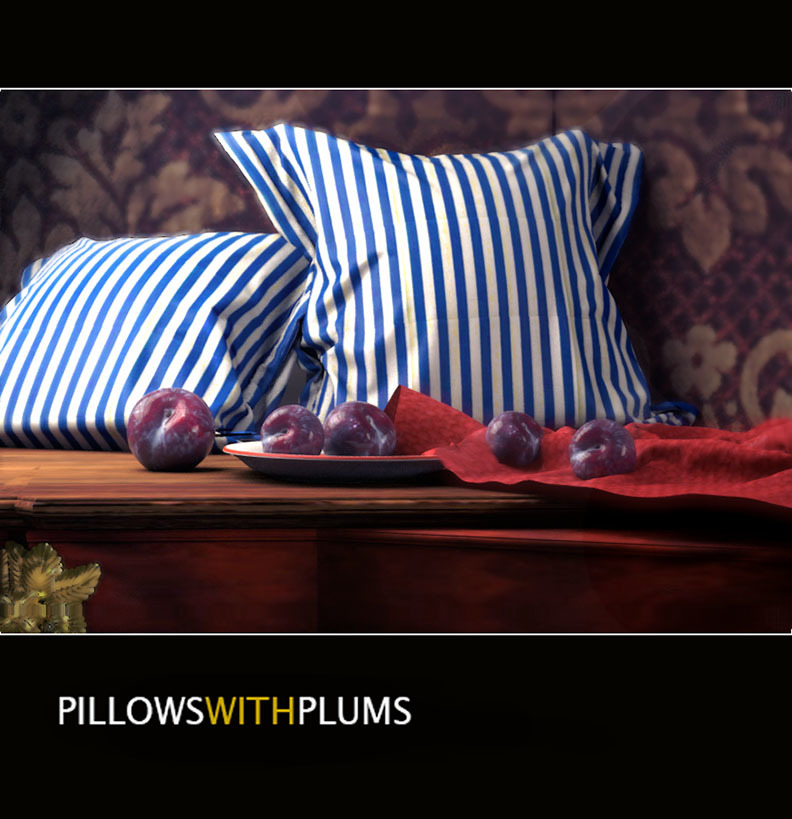 Pillows with Plums