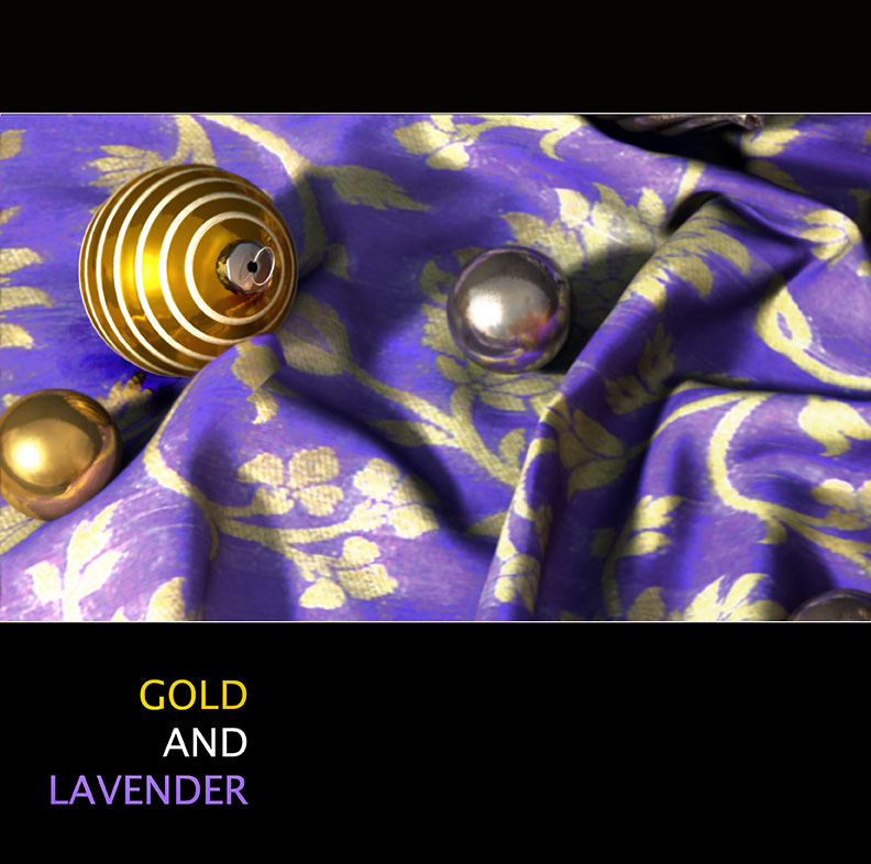 Gold and Lavender