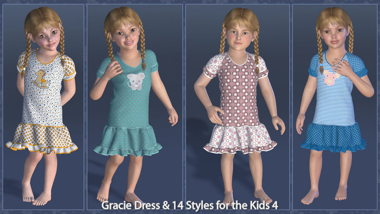 Gracie Dress and 14 Styles for the Kids 4