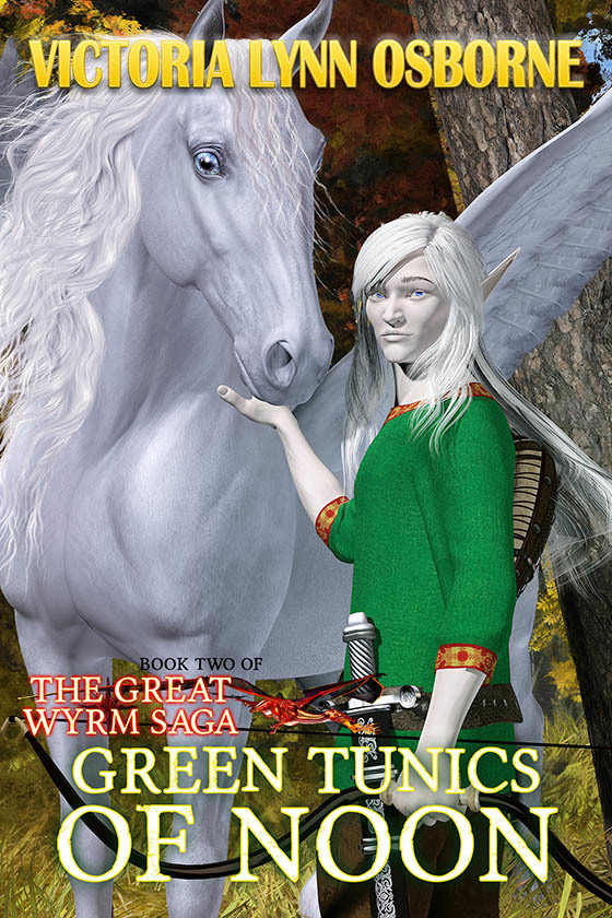 GREEN TUNICS OF NOON ~ Cover art & Design for