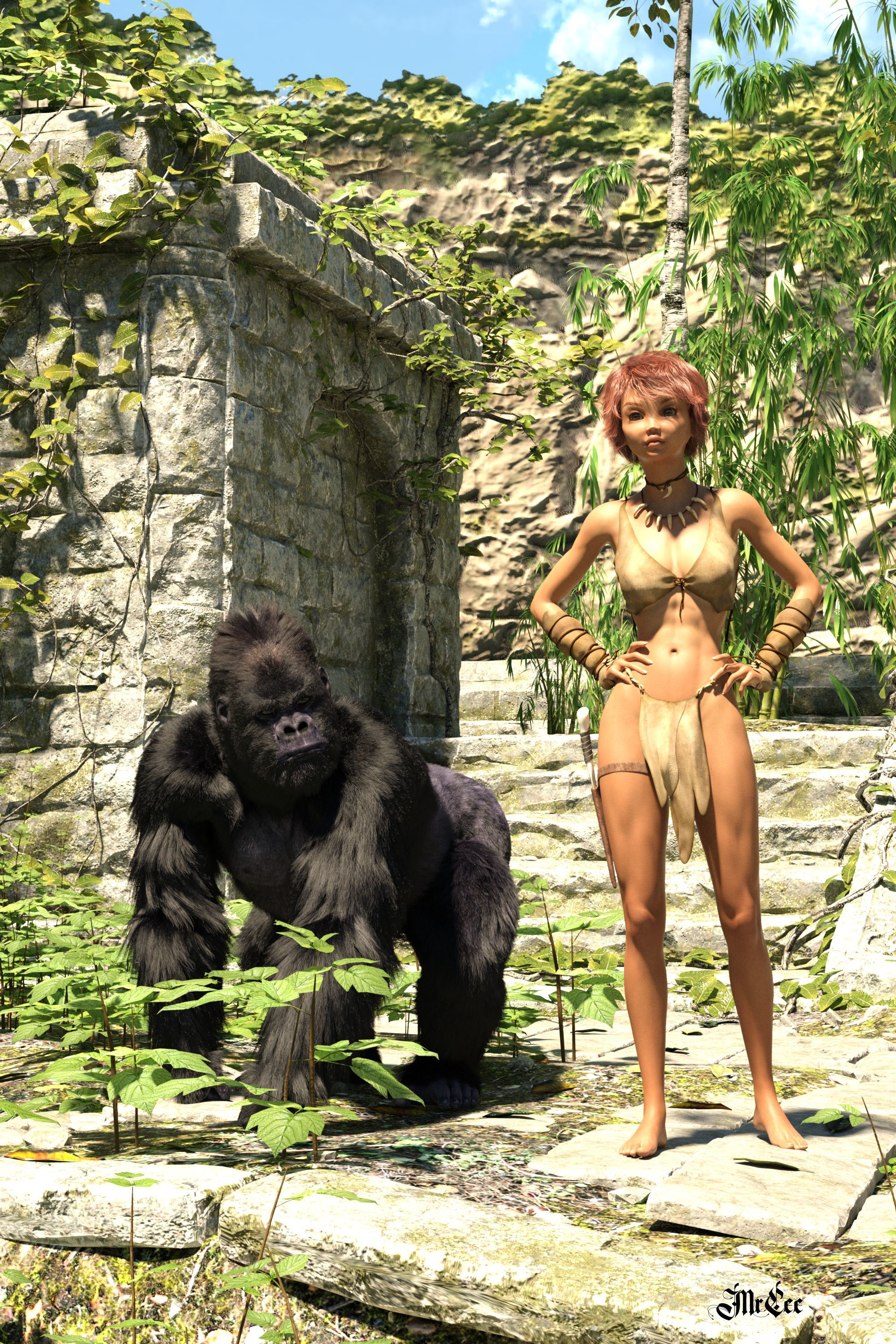 Zoë of the Jungle and Friend
