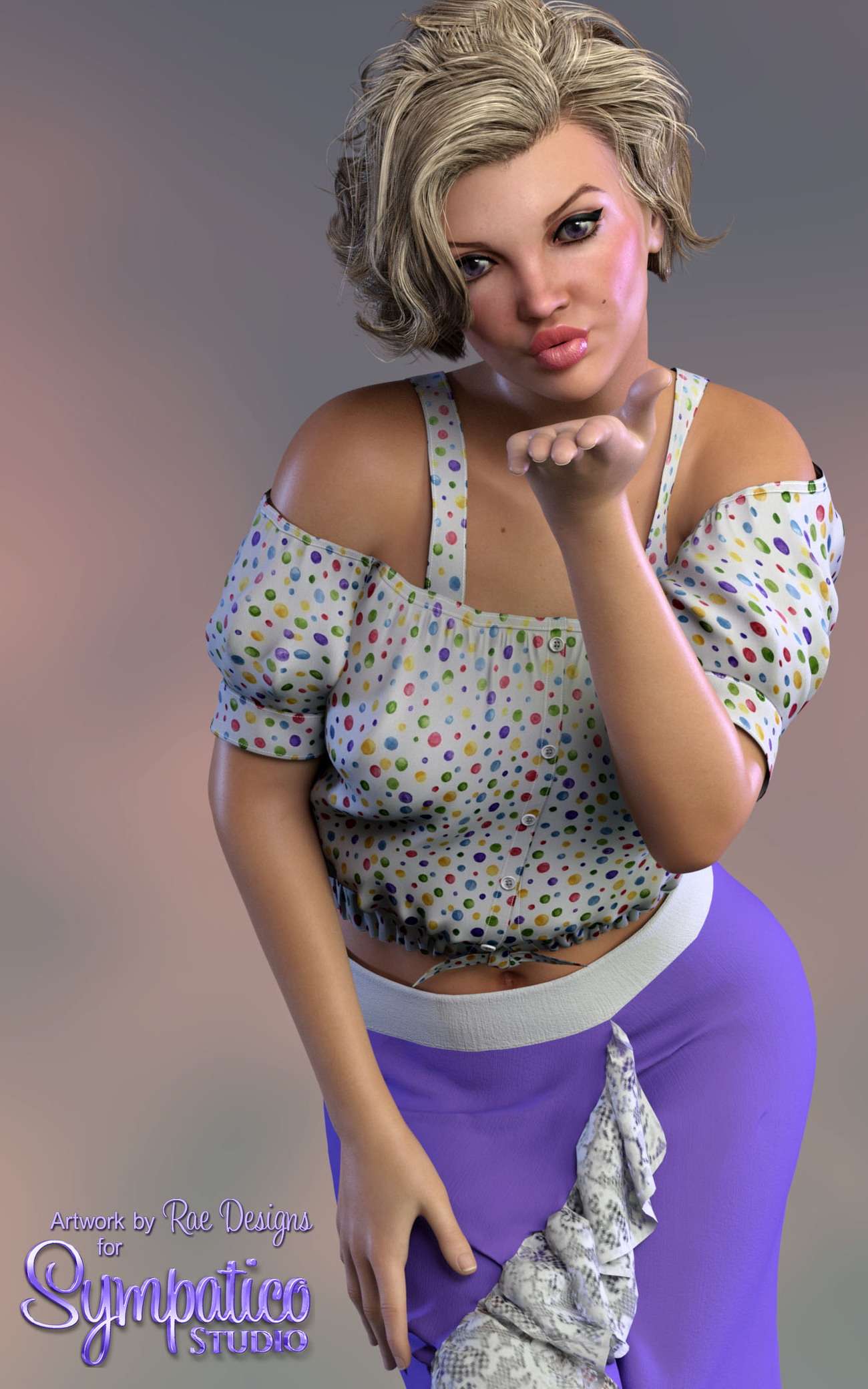 Strap Puff Sleeve Top