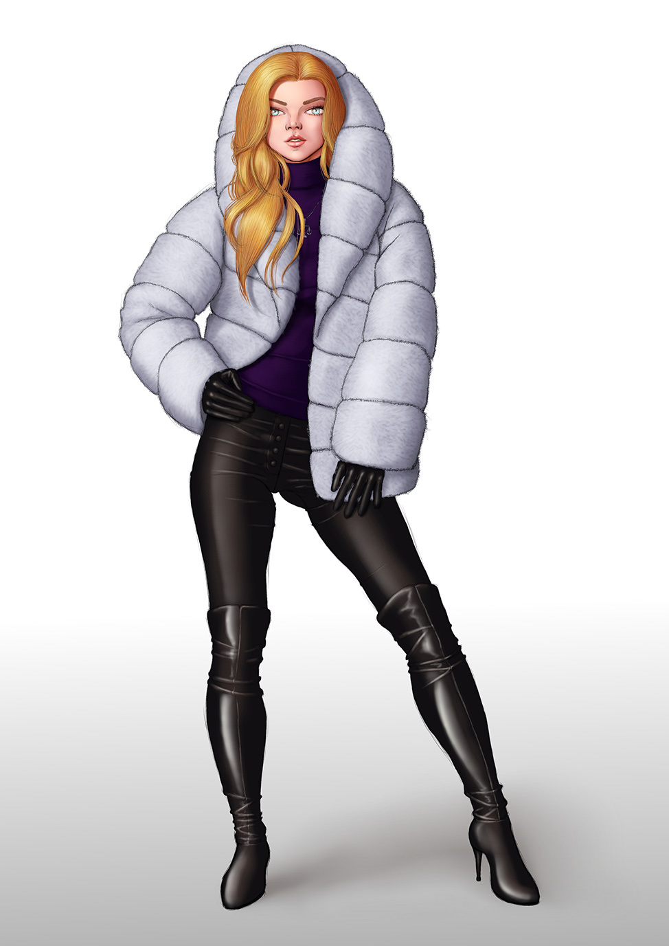 Commission: Raechill Summerfield winter outfit