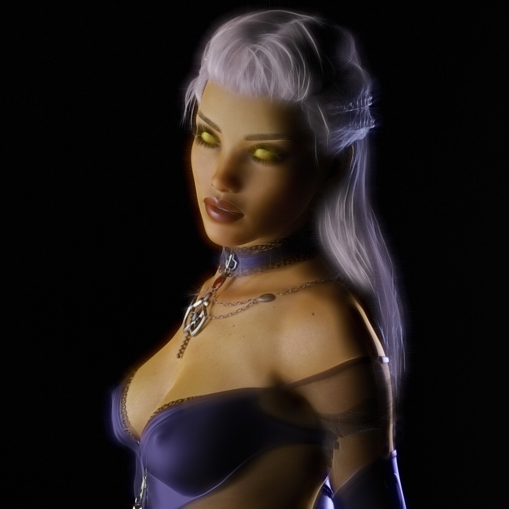 Fantasy woman portrait (2)