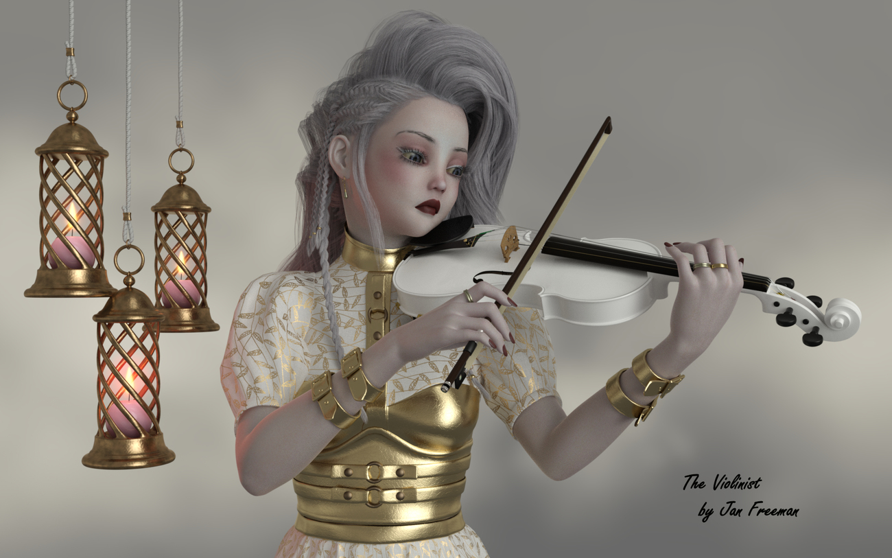 The Violinist by jan_scrapper