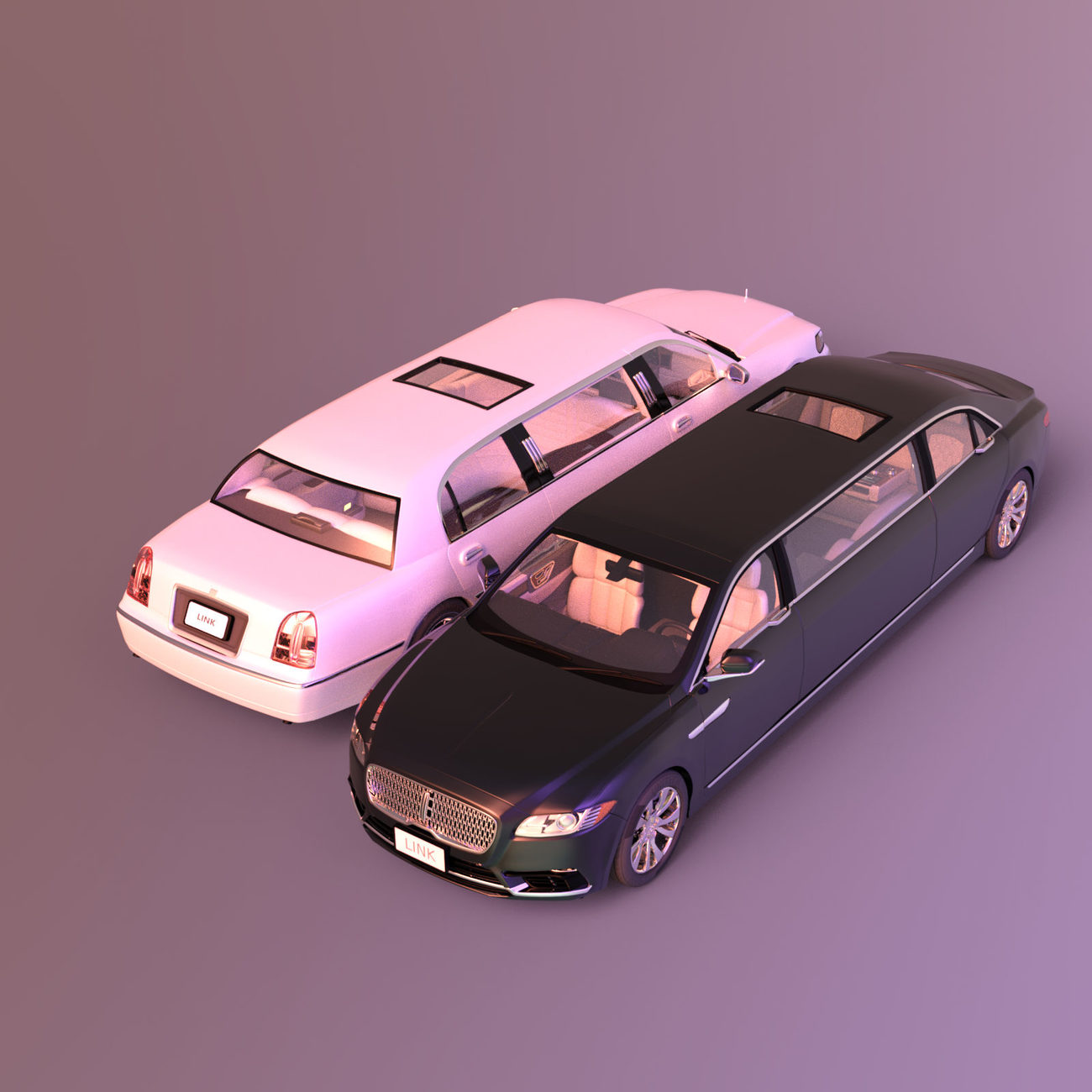 Two limousines