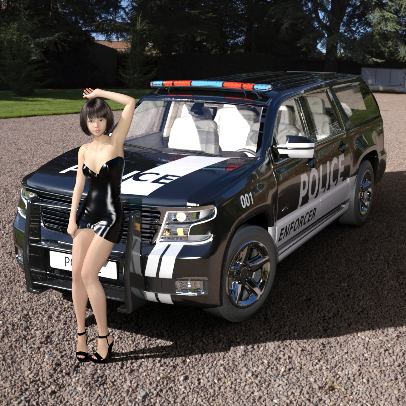G8F and Heavy Police Car