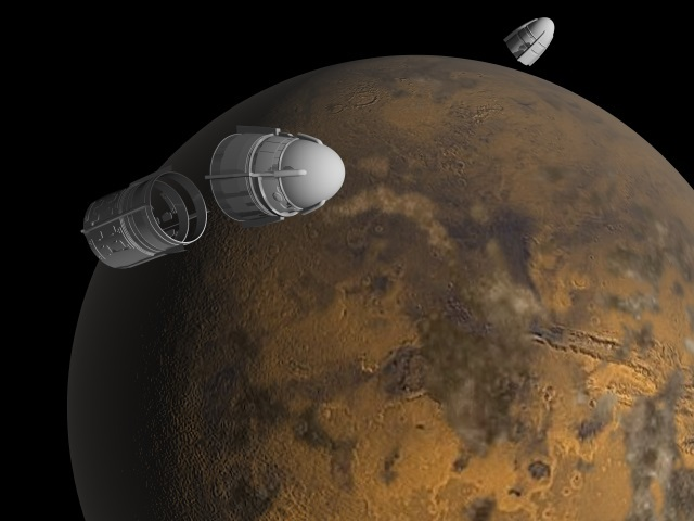 Parking in Mars orbit