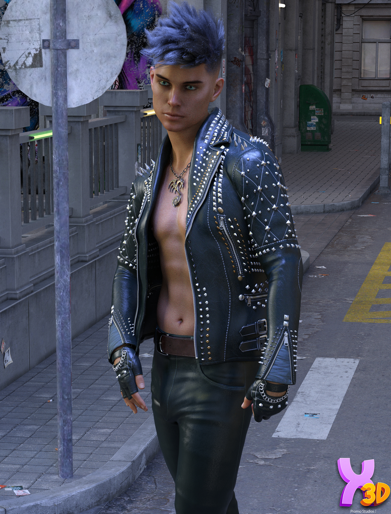 Spiky Jacket for G8M by zoro_d