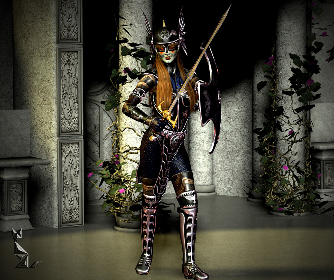 'NVIAW' ... with a sword ... by A_Sunbeam