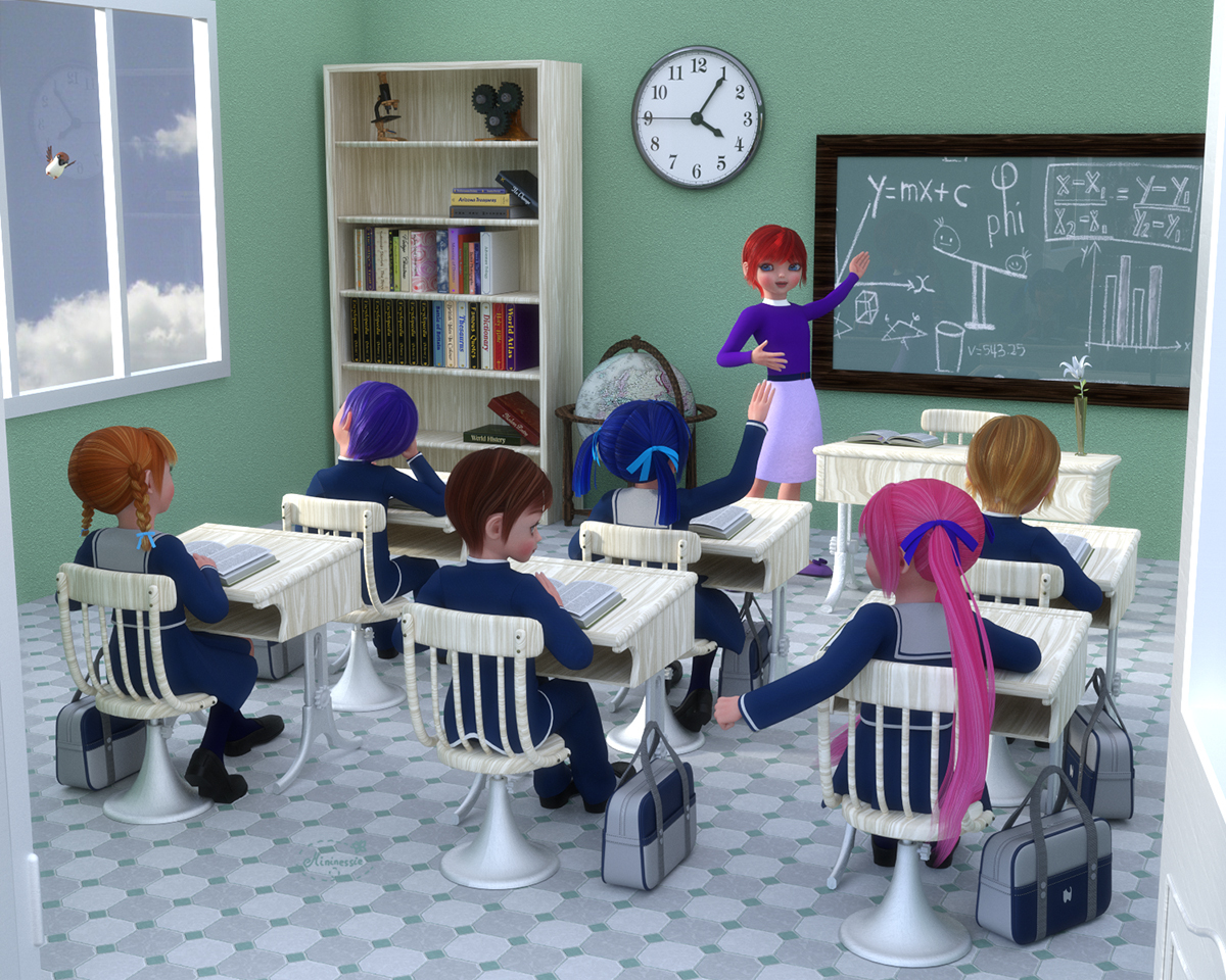 School day for elleque by mininessie