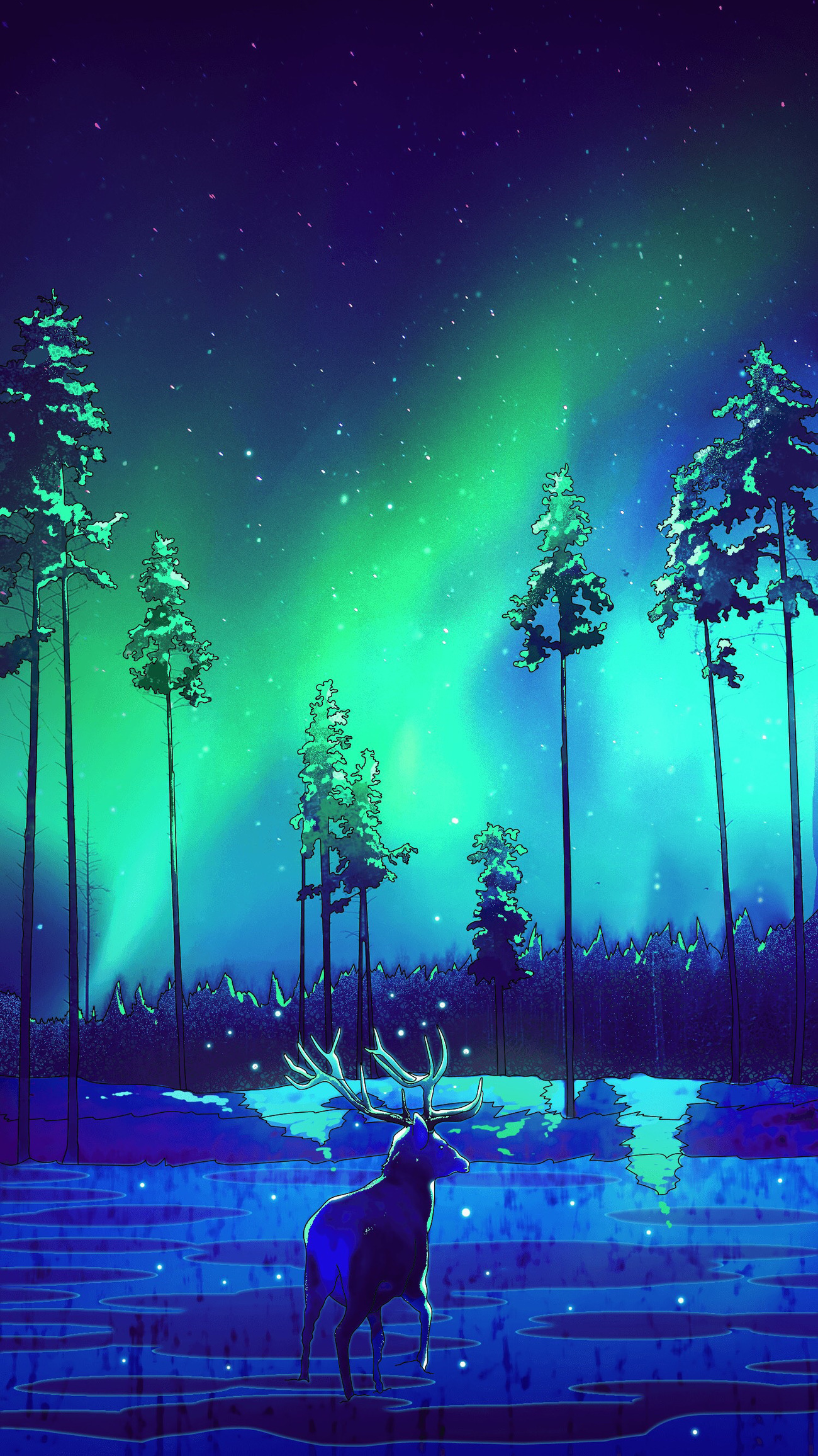 The Northern Lights by Lyne