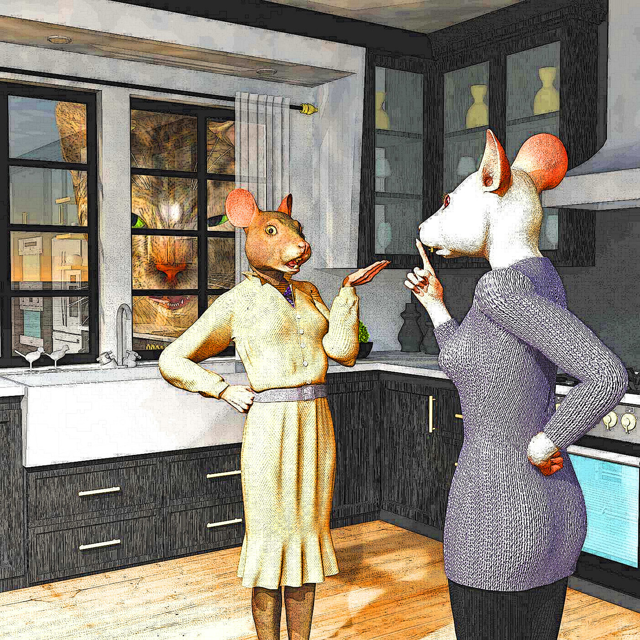 Mice in the Kitchen by rps53