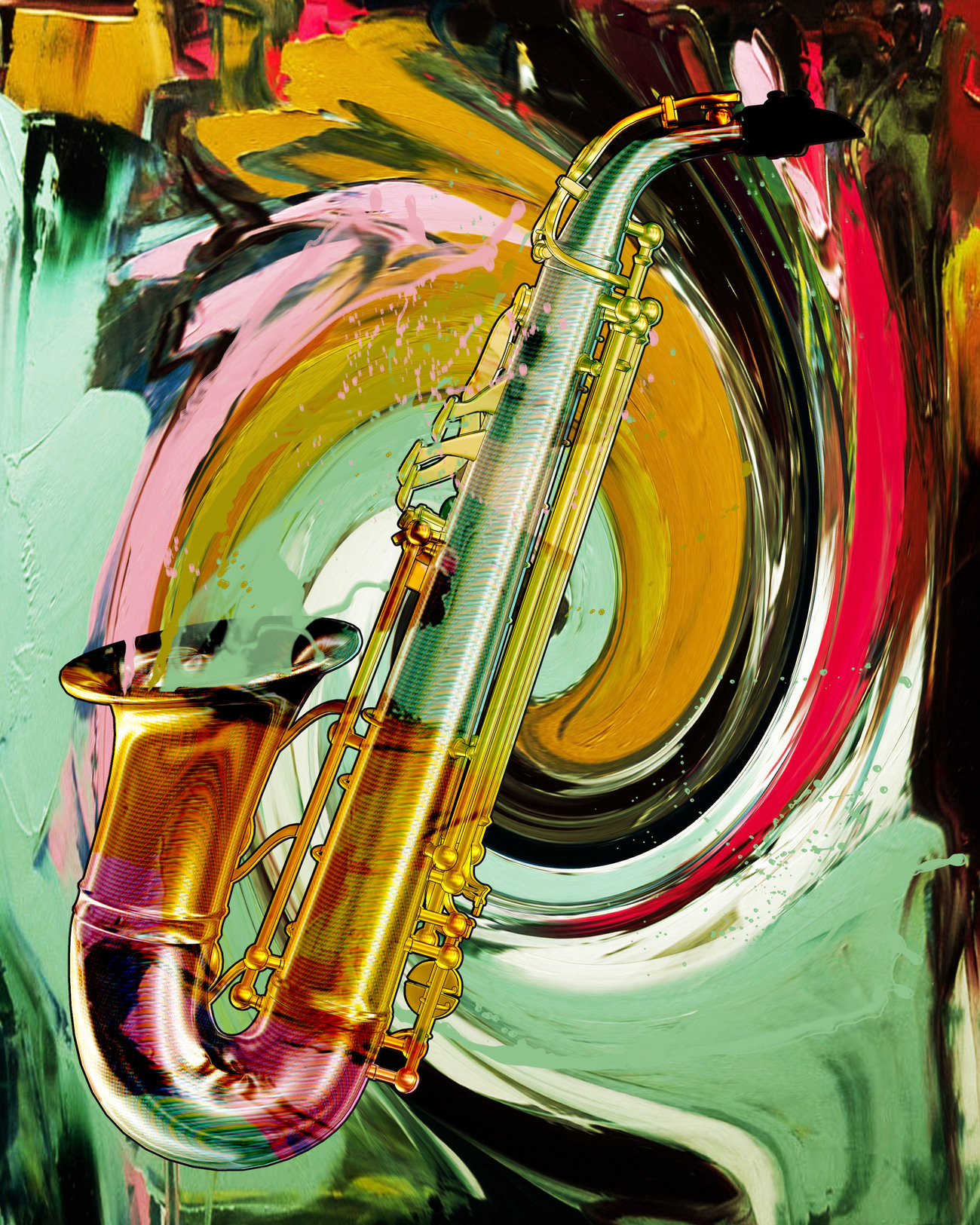 Colorful Sax by digitell