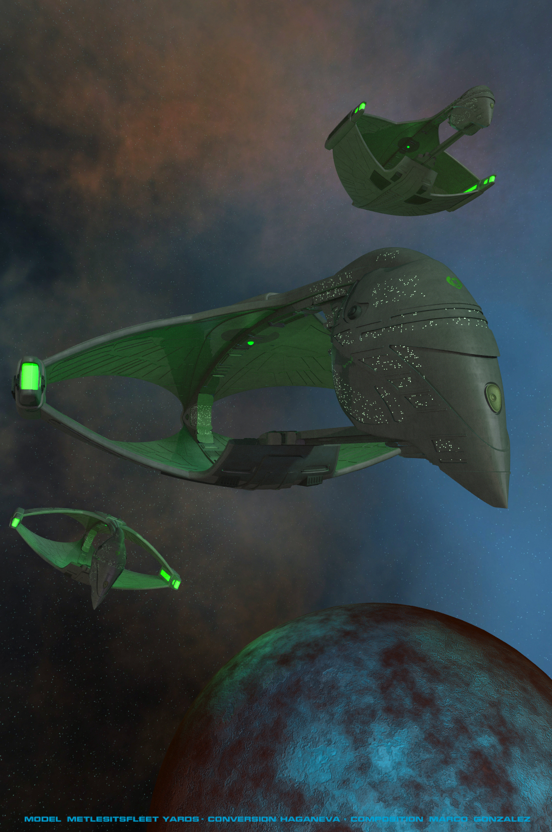 Romulan Warbirds by aztecmarco