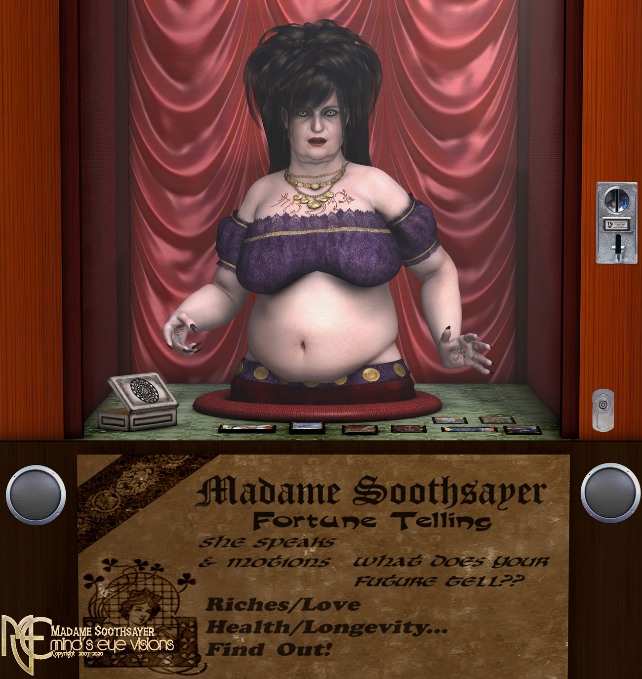Madame Soothsayer (Happy B-day Yves) by eekdog
