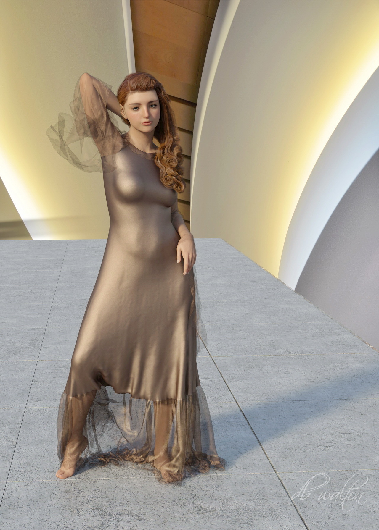New Character 4075 - My New Dress by dbwalton