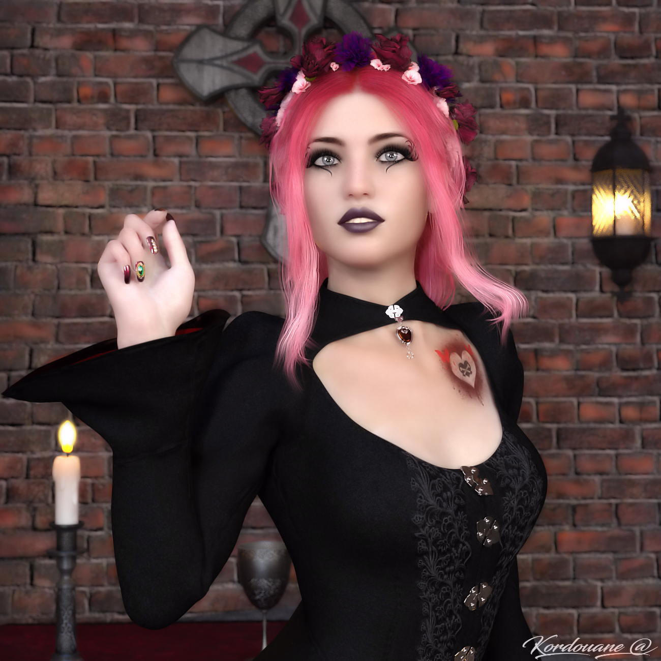For the heart of a Gothic Valentine by kordouane