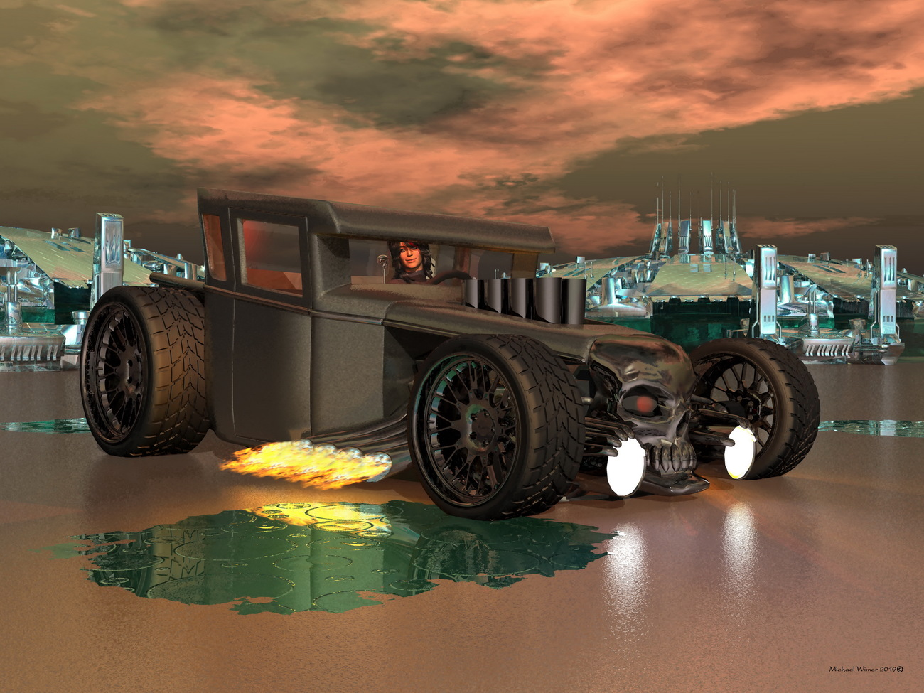 Revving Up Her Rat Rod by CATMANDO