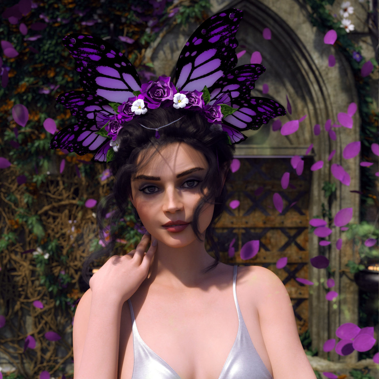 Butterfly Flower for Genesis 8 Female by Chaosqueens-World