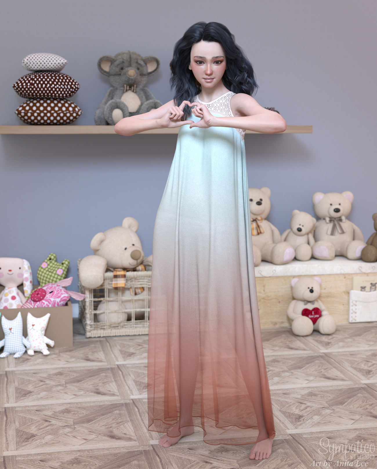 Ombre Dress by anitalee