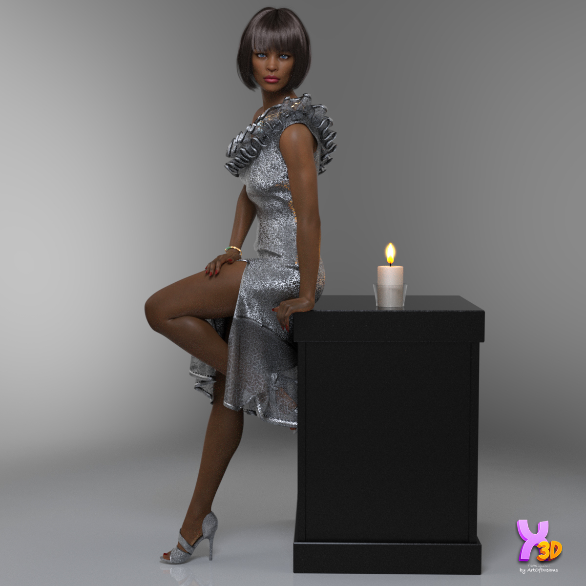 Charm Evening Cocktail Dress Outfit by ArtOfDreams