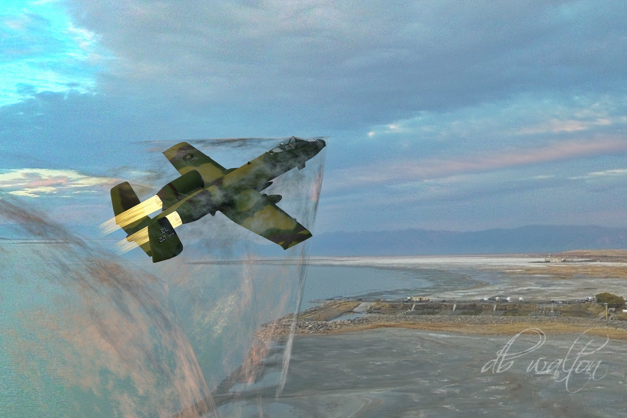A-10 Thunderbolt Over the Great Salt Lake