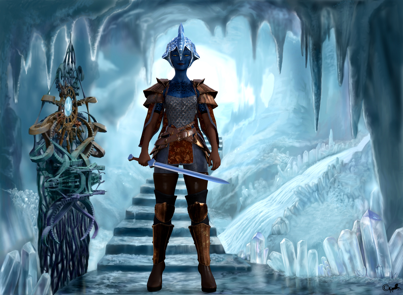 DAZ 755 or Warrior of the Ice Queen by miwi