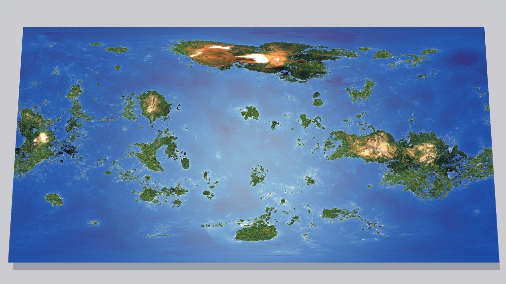 Global Map of Blue Venus by masamich Vue Science/Technology on map of a, map of all, map or,