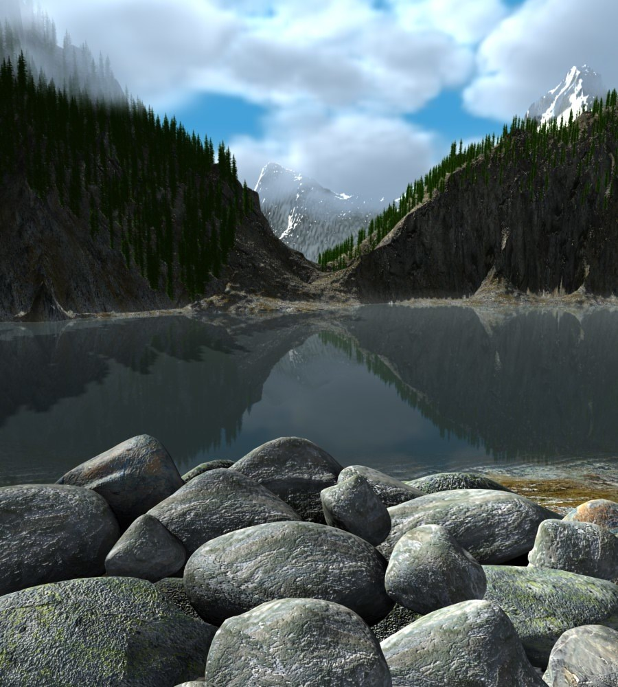 Mountainlake by Alfons