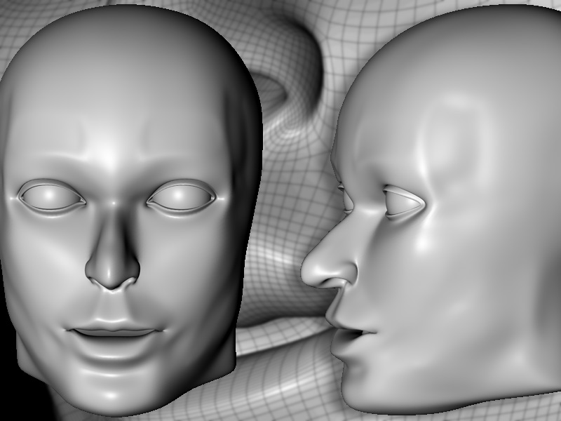 human head model ( WIP ) by ant228 Cinema 4D Modeling