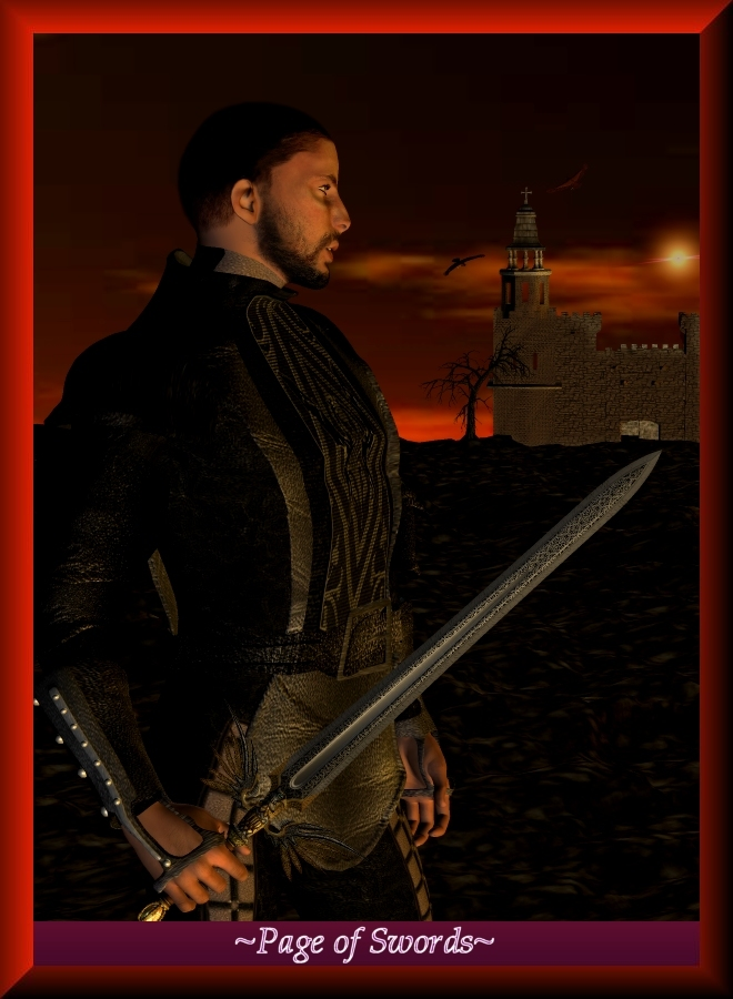 Page of Swords by Ravenism Poser Fantasy