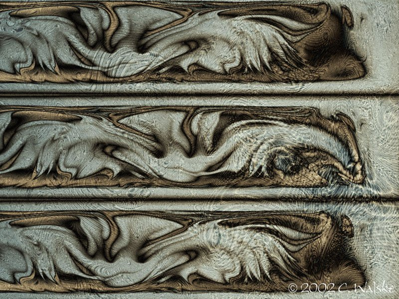 weathered carving