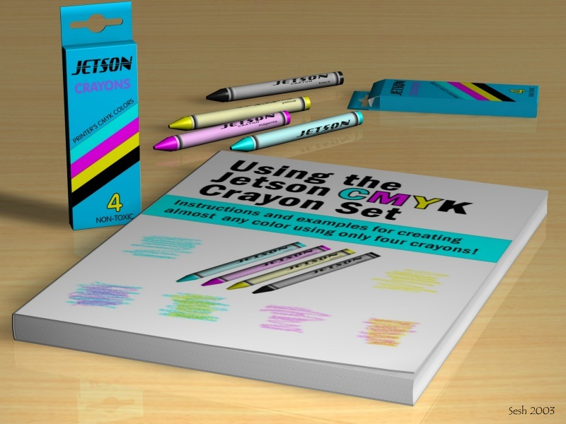 New Art Product: CMYK Crayon Set