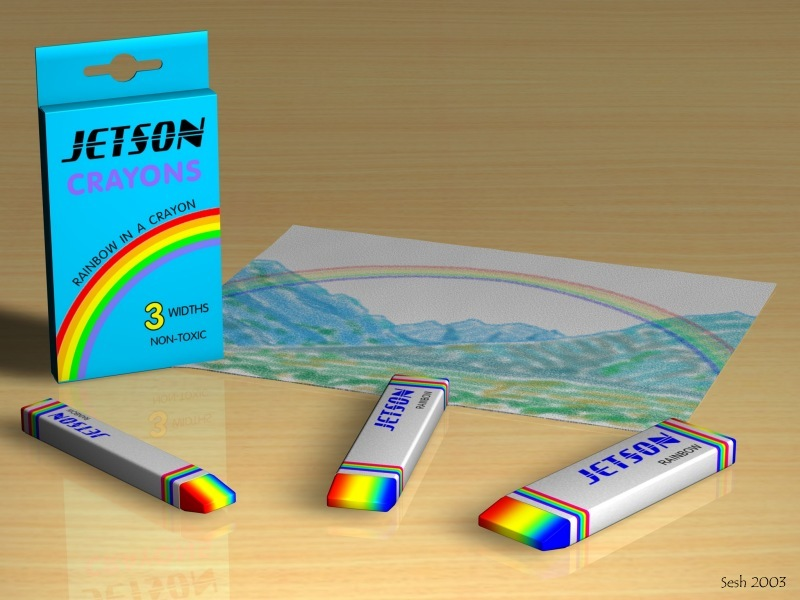 New Art Product: Rainbow Crayons