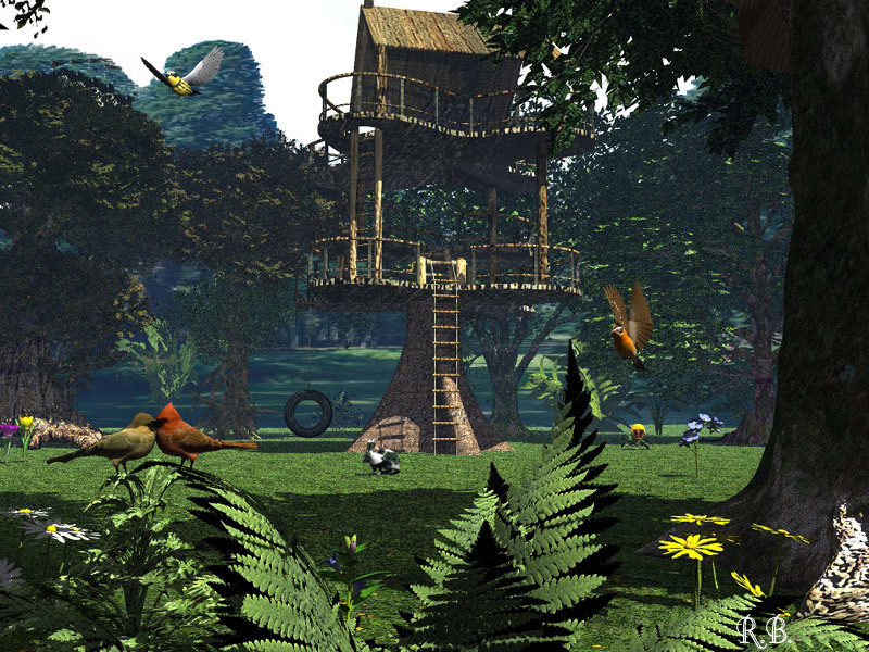 A Tree House in our Park by Panic912
