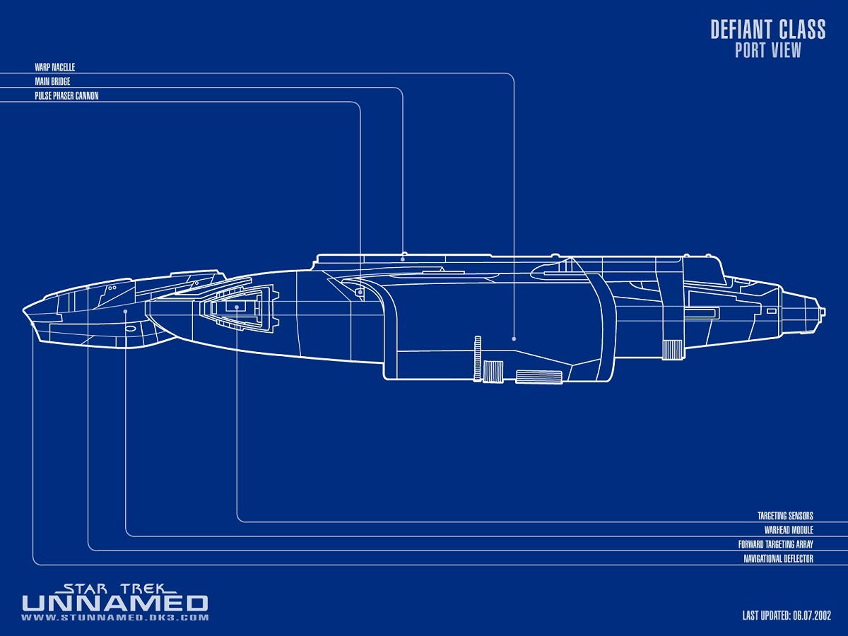 Defiant Cl Starship Schematic Port View by NapalmKing 2D ... on